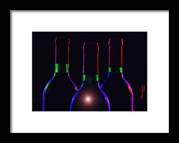 Bottle Framed Print featuring the photograph Bottles by Ericamaxine Price