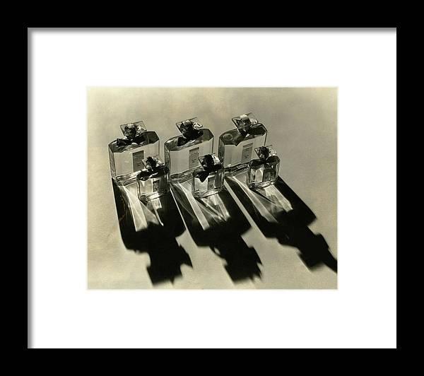 Lucretia Allen Framed Print featuring the photograph Bottles Of Lucretia Allen Perfume by Lusha Nelson