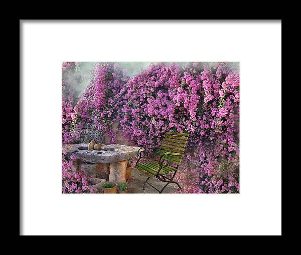 Bougainvillea Framed Print featuring the photograph Bougainvillea by Manfred Lutzius