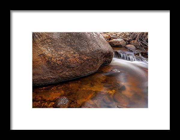 River Framed Print featuring the photograph Boulder by Craig Forhan