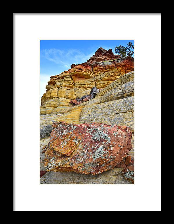 Boulder Framed Print featuring the photograph Boulder-notom Rocks by Ray Mathis