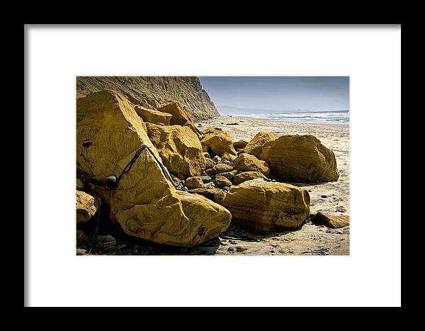 Art Framed Print featuring the photograph Boulders On The Beach At Torrey Pines State Beach by Randall Nyhof