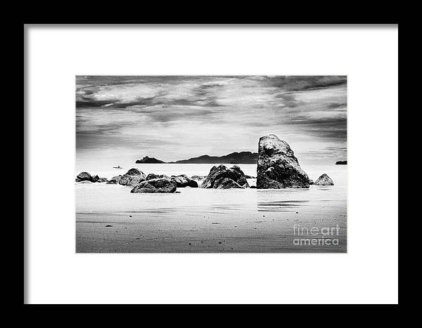 Boulders Framed Print featuring the photograph Boulders On The Beach by William Voon