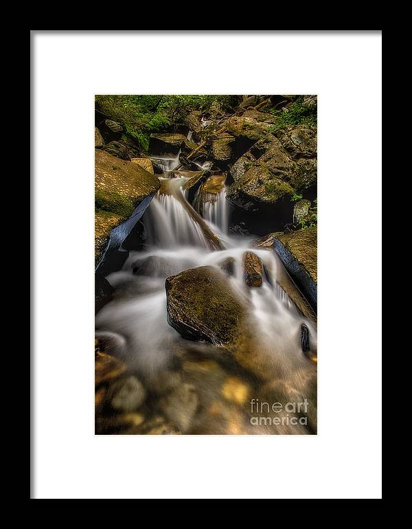 Usa Framed Print featuring the photograph Bouncing Off The Rocks Hdr by Mitch Johanson