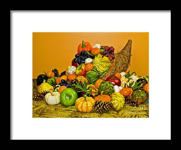 Cornucopia Framed Print featuring the photograph Bountiful Harvest by Valerie Fuqua