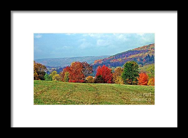 Western Ny State Framed Print featuring the photograph Bounty Of The Hills by Christian Mattison