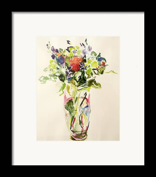 Still Lives Of Flowers Framed Print featuring the painting Bouquet by Julie Held
