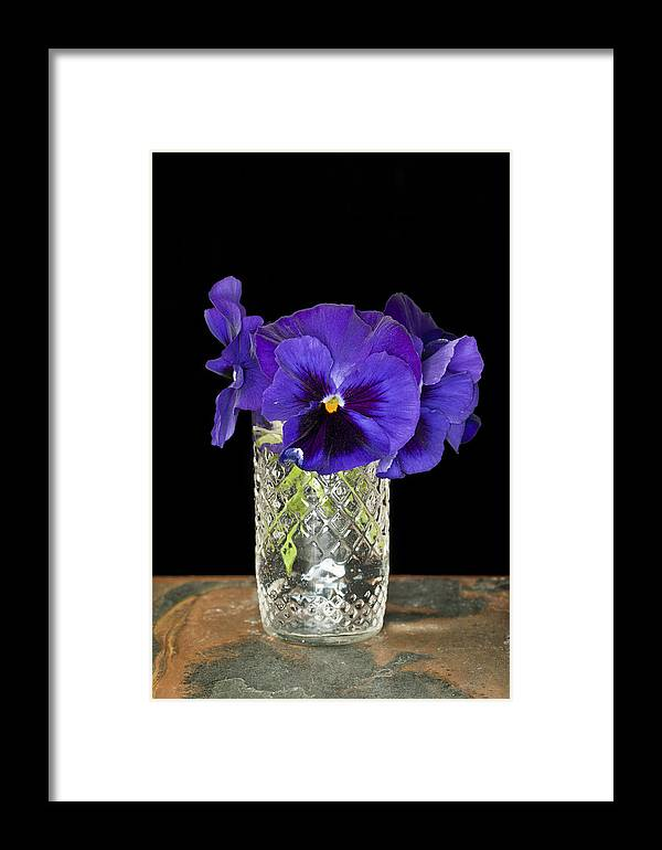 Flower Framed Print featuring the photograph Bouquet Of Flowers Pansies by Donald Erickson