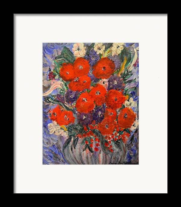 Flowers Framed Print featuring the painting Bouquet Splash by Louise Burkhardt