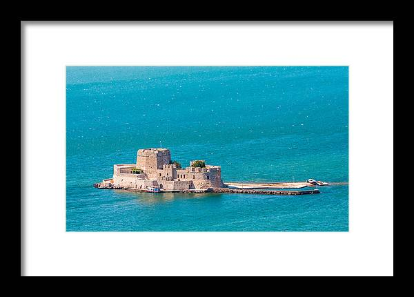 Ancient Framed Print featuring the photograph Bourtzi Fortress by Gurgen Bakhshetsyan