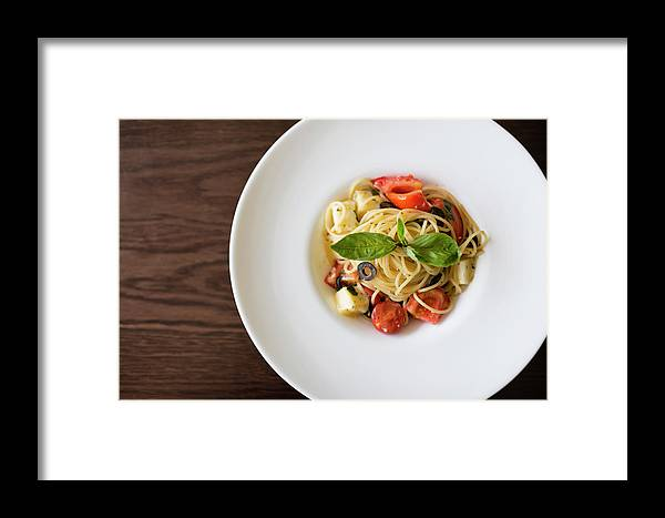 Healthy Eating Framed Print featuring the photograph Bowl Of Spaghetti by Cody Rasmussen