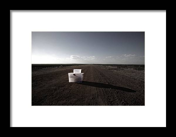 Hidden Framed Print featuring the photograph Boxed by Pam B