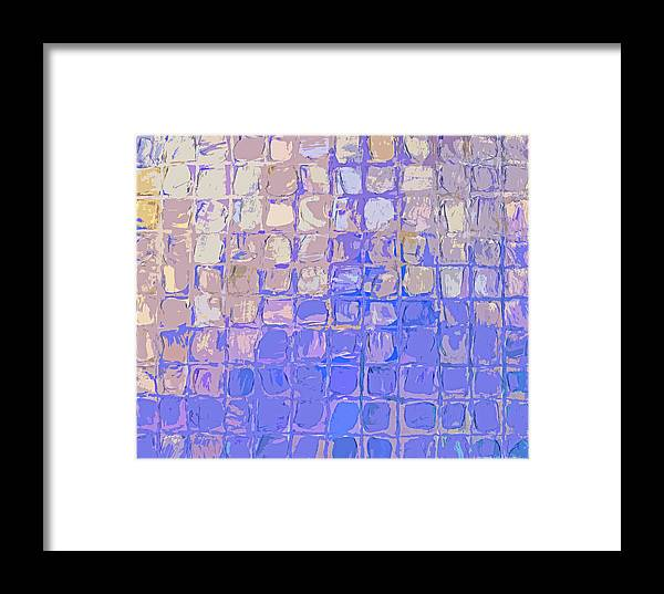 Featured Framed Print featuring the digital art Boxes In Purple And Pink by Paulette B Wright