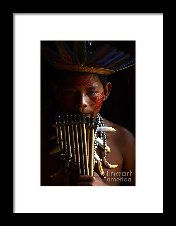 Amazon Framed Print featuring the photograph Boy Of The Amazon 3 by Bob Christopher