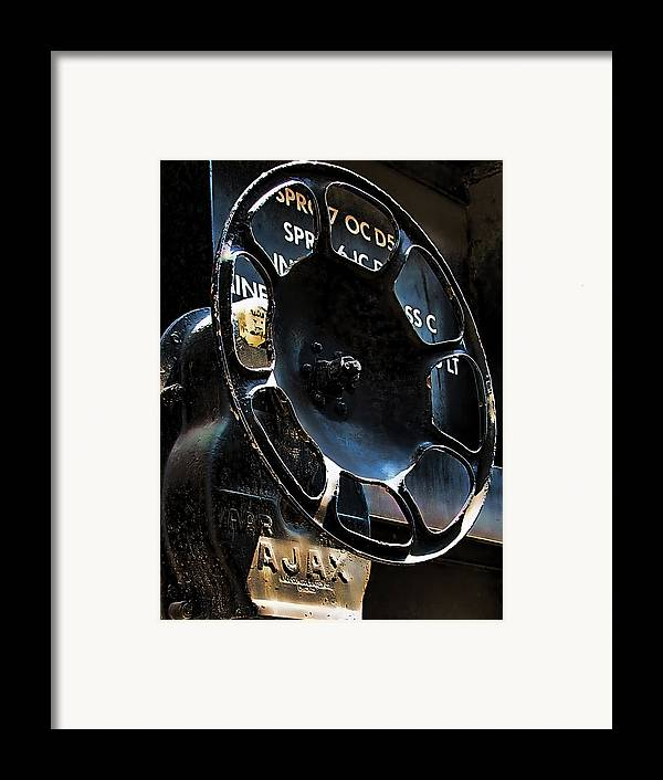Art166 Framed Print featuring the photograph Braking by Wendy J St Christopher