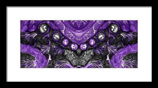 Purple Framed Print featuring the digital art Branched Within by Joyce Rogers
