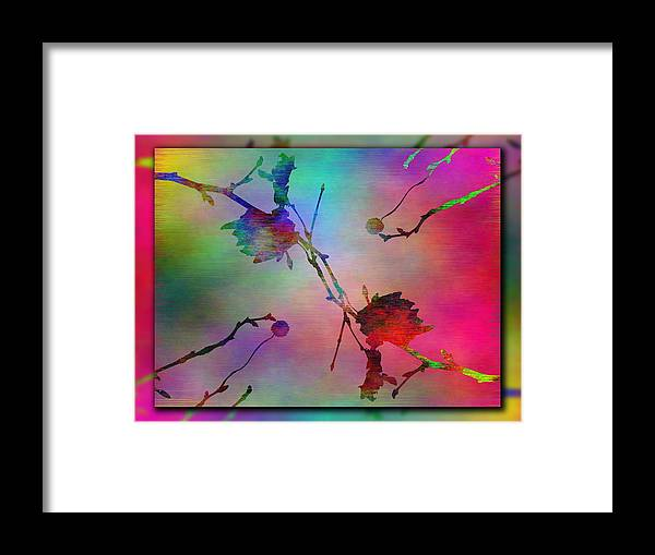 Abstract Framed Print featuring the digital art Branches In The Mist 26 by Tim Allen