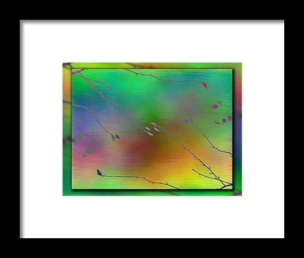 Abstract Framed Print featuring the digital art Branches In The Mist 27 by Tim Allen