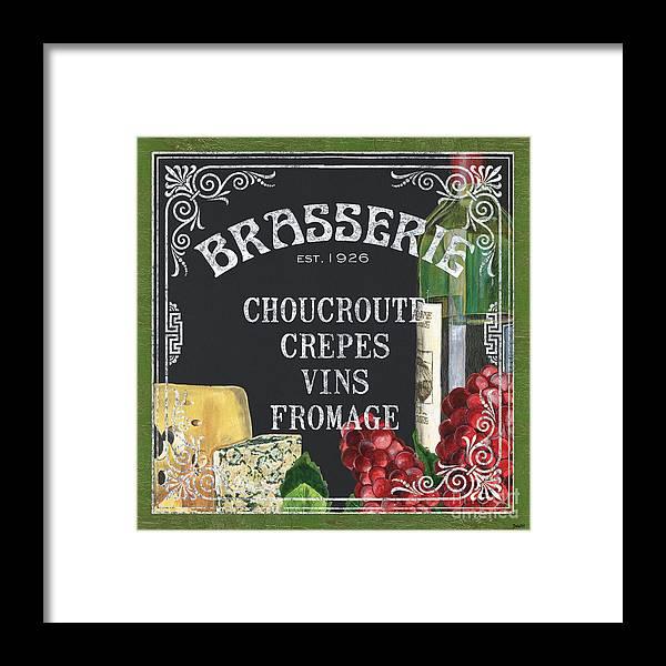 Bistro Framed Print featuring the painting Brasserie Paris by Debbie DeWitt