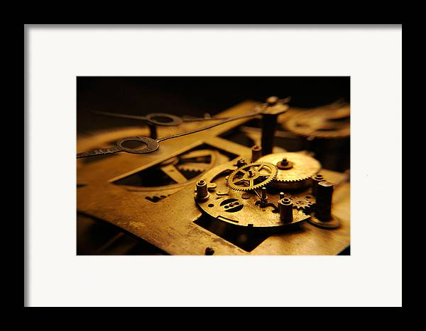 Clock Framed Print featuring the photograph Breach Of Time by Jon Emery