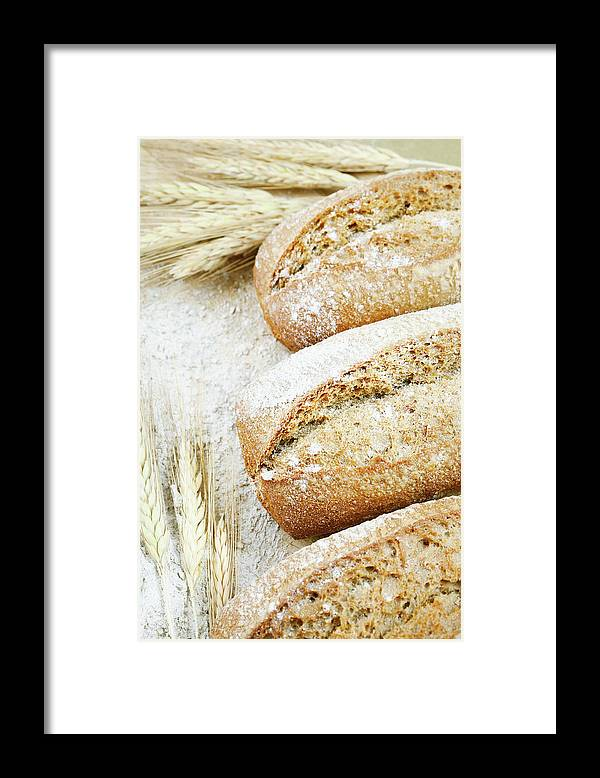 Breakfast Framed Print featuring the photograph Bread by Cactusoup