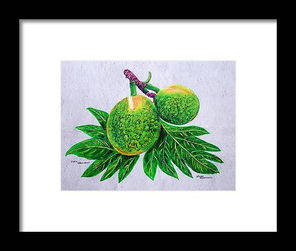 Bread Fruit Framed Print featuring the painting Bread Fruit by Jeanne Humphreys