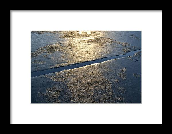 Ice Framed Print featuring the photograph Break In The Ice by Lyle Crump