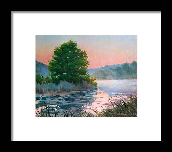Impressionism Framed Print featuring the painting Break Of Day by Keith Burgess