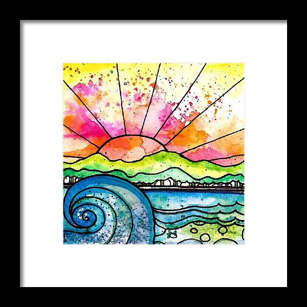 Framed Print featuring the photograph Break Of Day Watercolor by Robin Mead