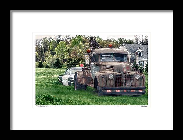 Automobile Framed Print featuring the photograph Breakdown by Richard Bean