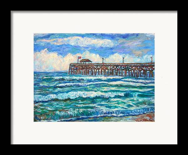 Shore Scenes Framed Print featuring the painting Breakers At Pawleys Island by Kendall Kessler
