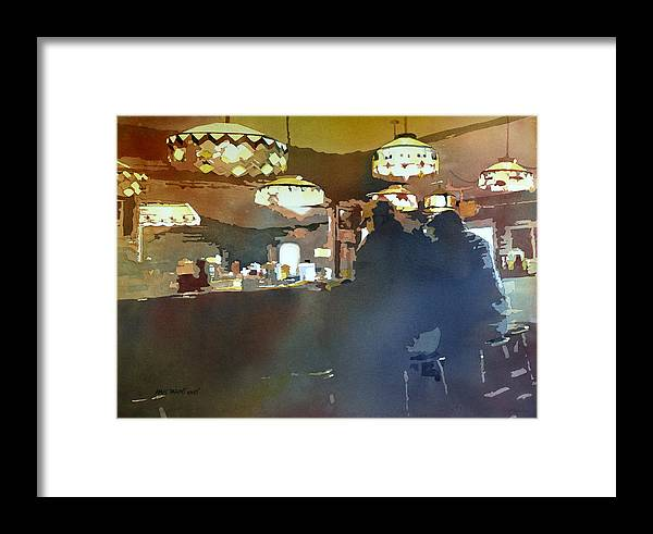 Kris Parins Framed Print featuring the painting Breakfast With Tiffanys by Kris Parins