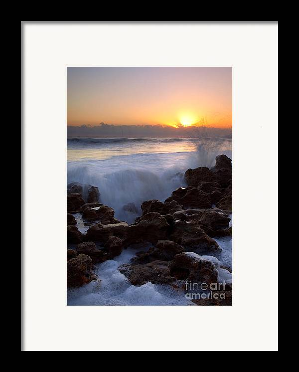 Coral Cove Framed Print featuring the photograph Breaking Dawn by Mike Dawson