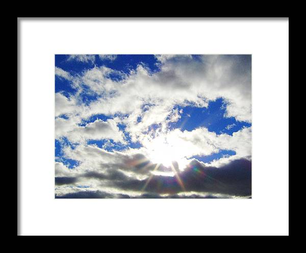 Sky Framed Print featuring the photograph Breaking Through by J Andrel