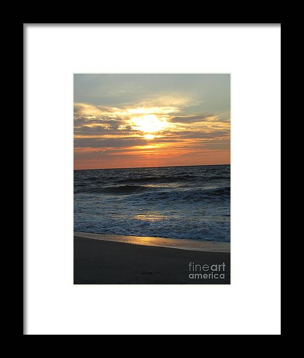 Kure Framed Print featuring the photograph Breaking Through The Day by Jaclyn Hughes Fine Art