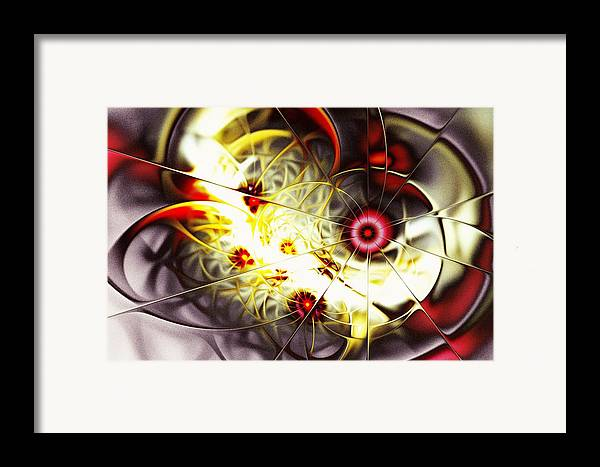 Abstract Framed Print featuring the digital art Breakthrough by Anastasiya Malakhova