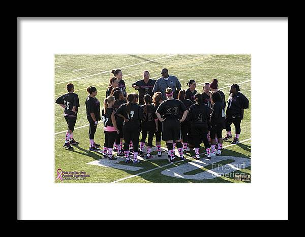 Framed Print featuring the photograph Breast Cancer Games 7285 by Notah Studios