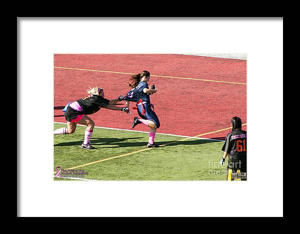 Framed Print featuring the photograph Breast Cancer Games 7399 by Notah Studios