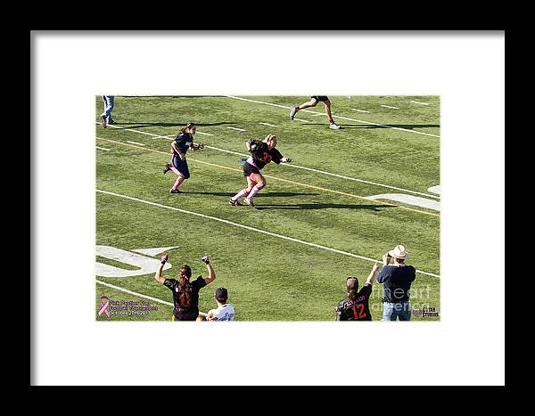 Framed Print featuring the photograph Breast Cancer Games 7418 by Notah Studios