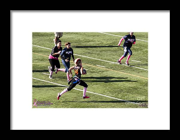Framed Print featuring the photograph Breast Cancer Games 7427 by Notah Studios