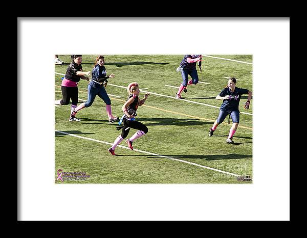 Framed Print featuring the photograph Breast Cancer Games 7428 by Notah Studios