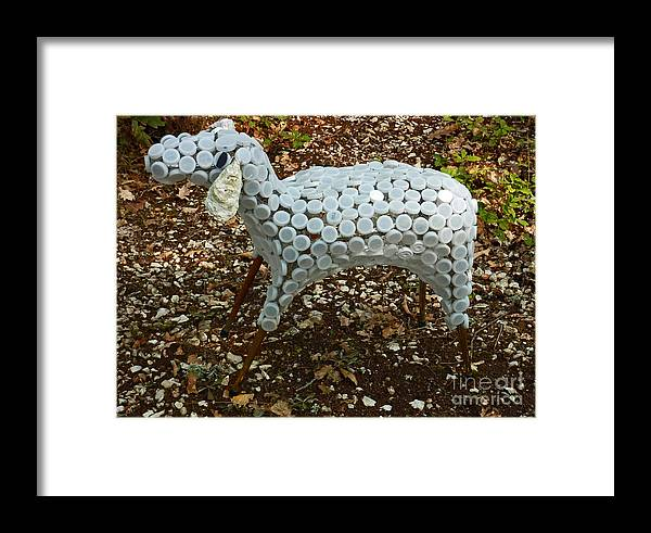 Sheep Framed Print featuring the sculpture Brebis by Katia Weyher