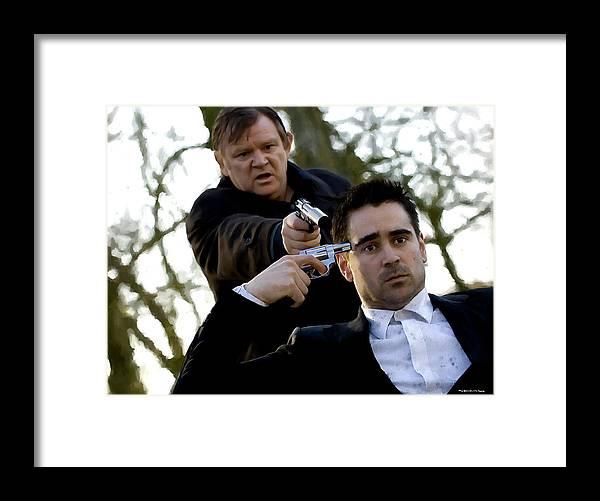 Brendan Gleeson Framed Print featuring the digital art Brendan Gleeson and Colin Farrell @ In Bruges by Gabriel T Toro