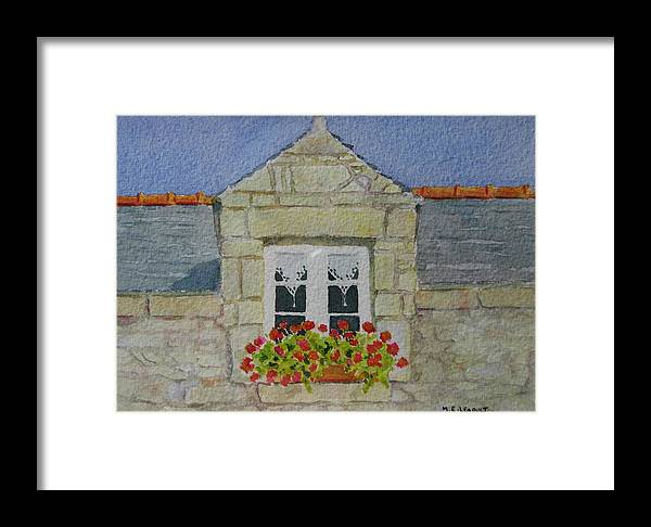 France Framed Print featuring the painting Bretagne Window by Mary Ellen Mueller Legault