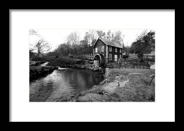 Cape Cod Framed Print featuring the photograph Brewster Grist Mill by David DeCenzo