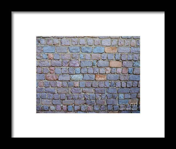 Stone Framed Print featuring the photograph Brick Patern-1 by Gene Mark