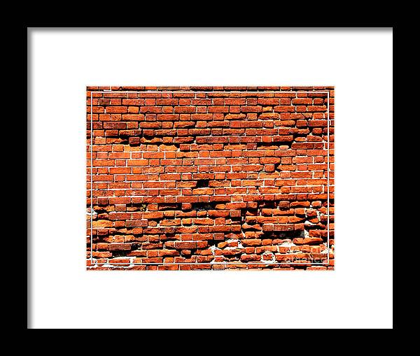 Scarp Wall Framed Print featuring the photograph Brick Scarp Walls And Casement Gallery by Rose Santuci-Sofranko