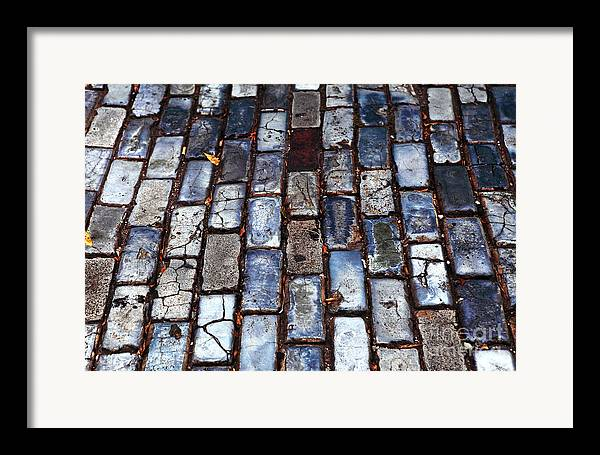 Brick Street Framed Print featuring the photograph Brick Street by John Rizzuto