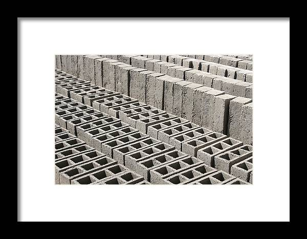 Brick Framed Print featuring the photograph Bricks Drying In The Sun by Robert Hamm