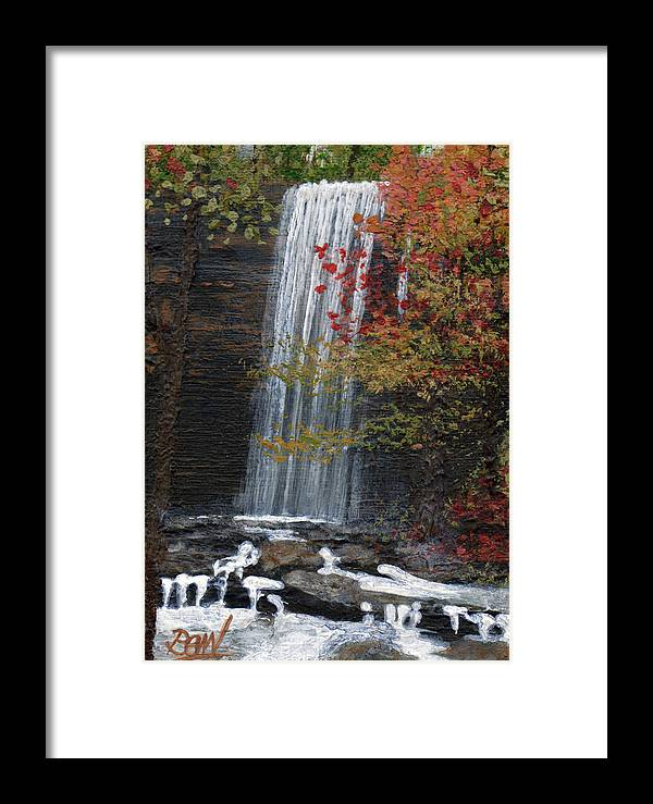 Acrylic Framed Print featuring the painting Bridal Veil Falls by Bill Brown